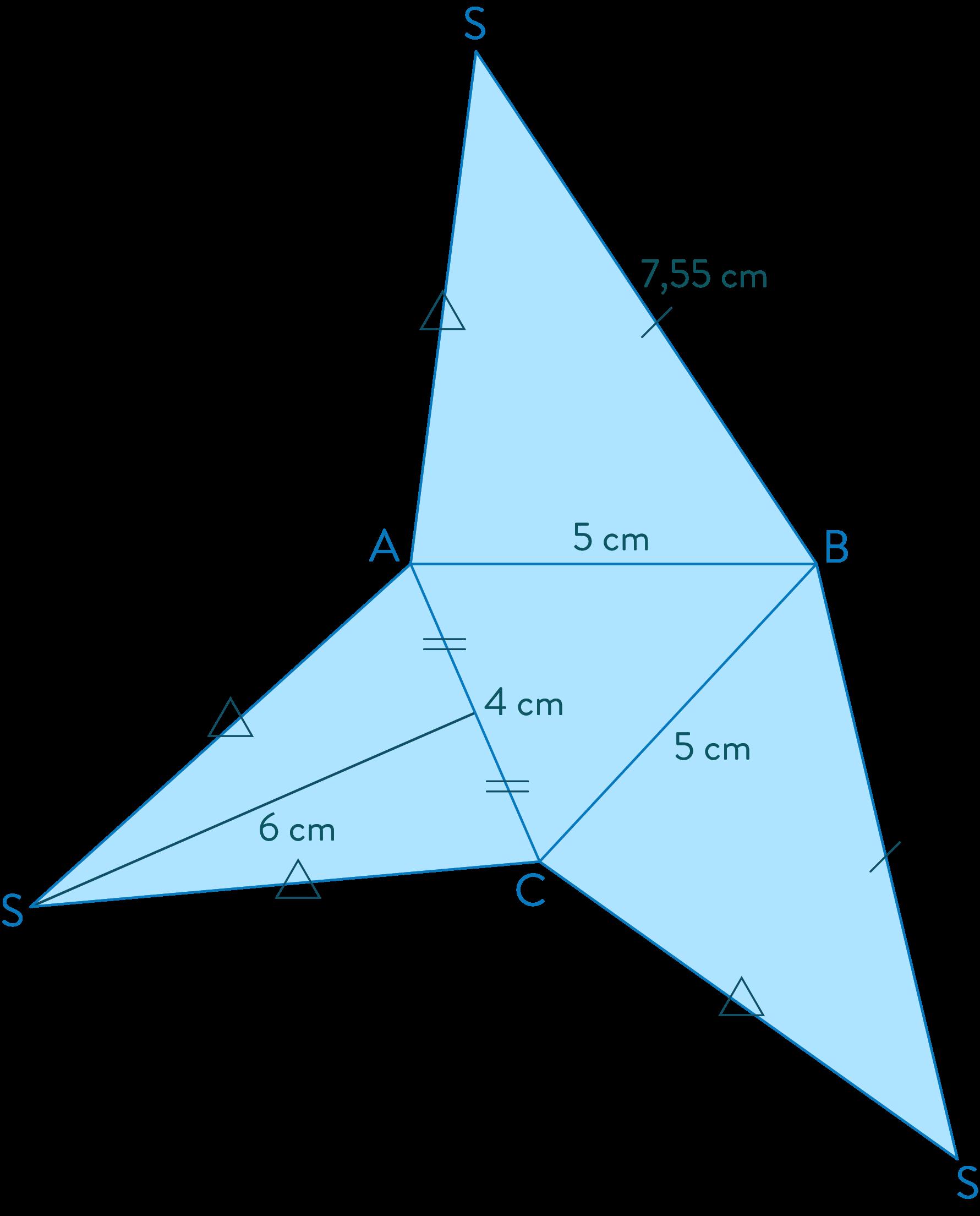 patron pyramide solides mathématiques cinquième