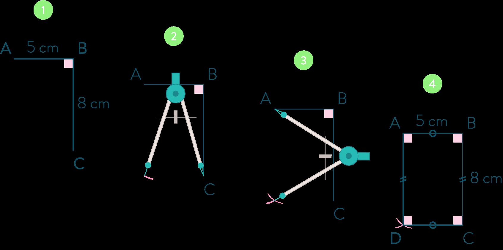 rectangle connaître les quadrilatères mathématiques cinquième
