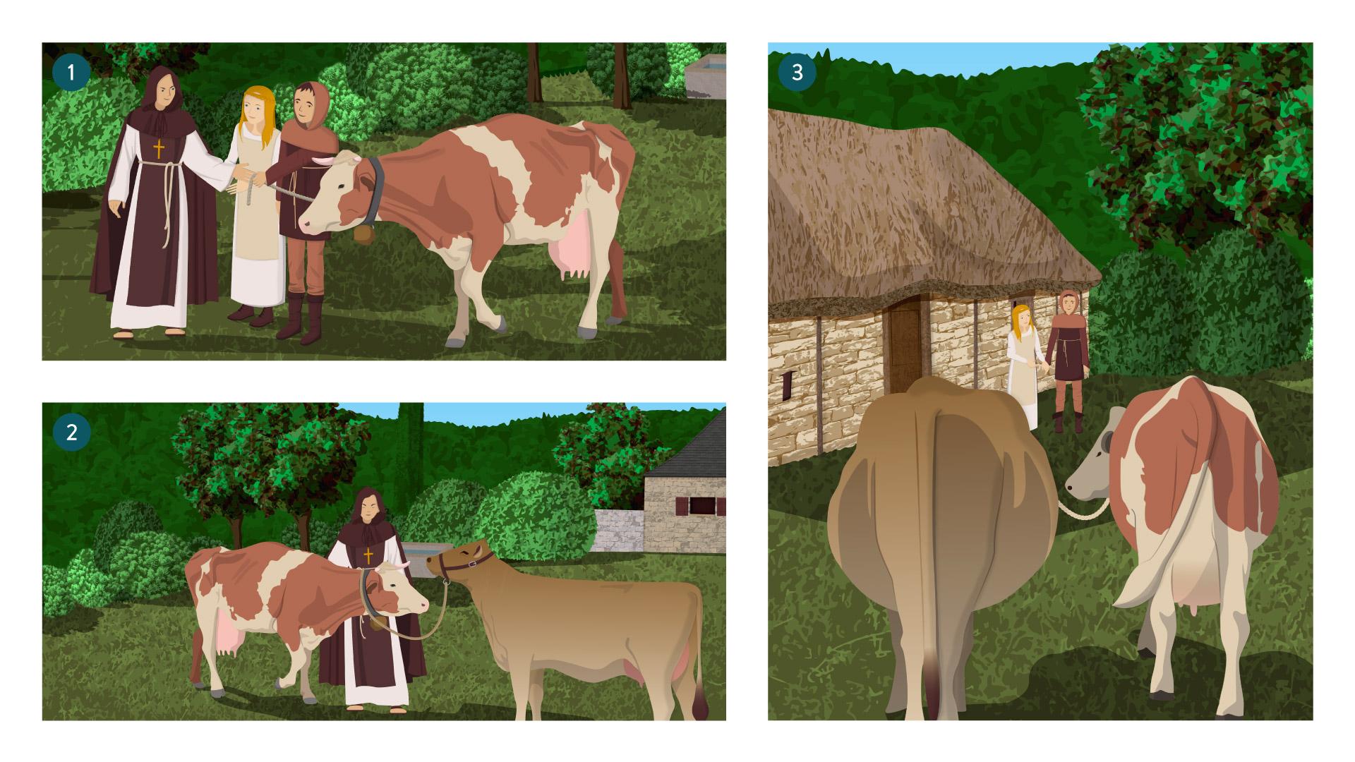 Blérain la vache au prêtre-français-6e