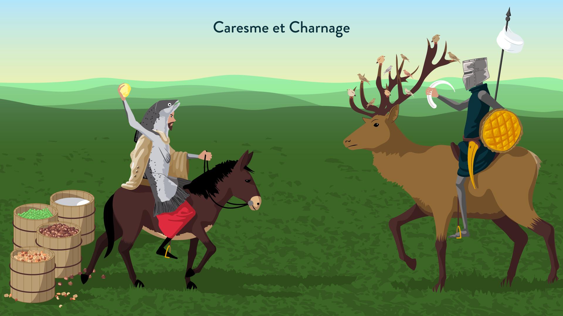 La bataille de Caresme et de Charnage-6e-Français