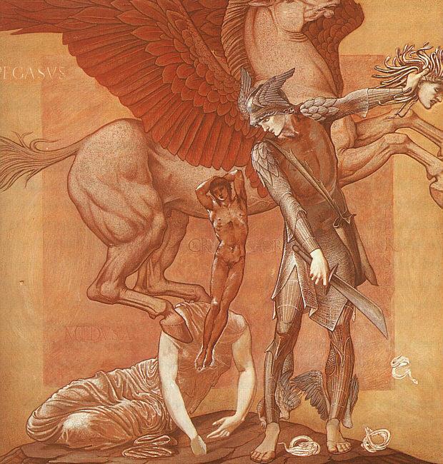 Edward Burne-Jones, La naissance de Pégase et Chrysaor, 1876-1885