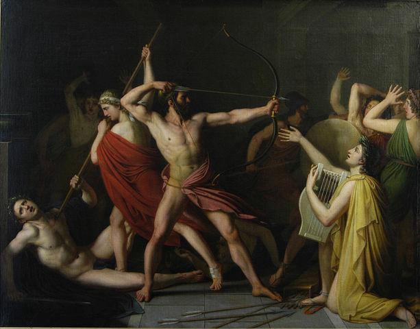 Thomas Degeorge, Ulysse et Télémaque massacrent les prétendants de Pénélope, musée d'Art Roger Quilliot, Clermont-Ferrand, 1812 ©VladoubidoOo