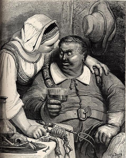 L'Ogre et sa femme, Gustave Doré, illustration pour «Le Petit Poucet» de Charles Perrault, 1862