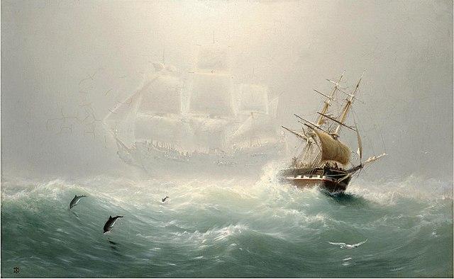 Charles Temple Dix, Le Hollandais volant, 1860