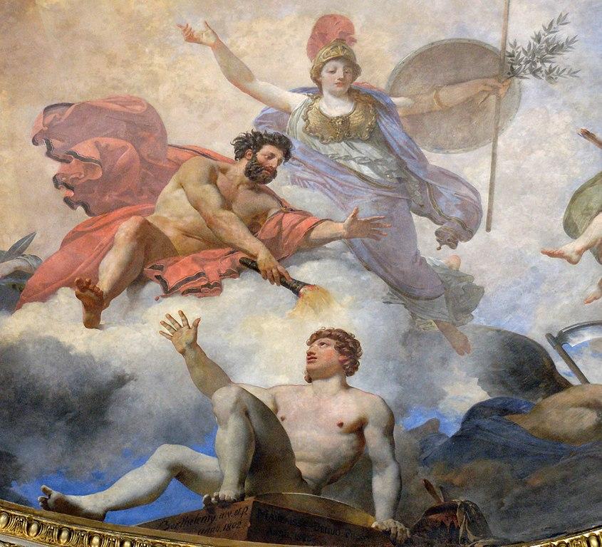 Jean-Simon Berthélemy et Jean-Baptiste Mauzaisse, L'Homme formé par Prométhée et animé par Minerve, 1802 puis 1826, musée du Louvres ©Marie-Lan Nguyen