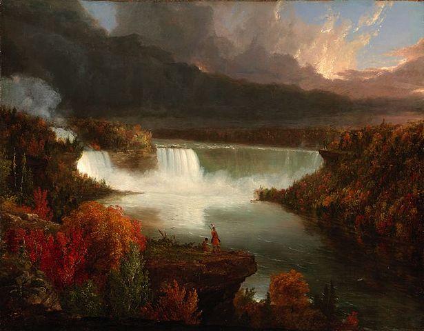 Thomas Cole, Distant View of Niagara Falls, (Vue de loin des Chutes du Niagara), 1830-Français-6e