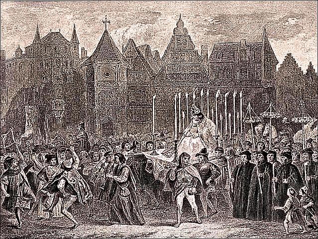 fête des Fous Moyen Âge le carnaval exercice français sixième