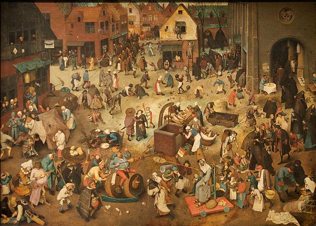 Pieter Brueghel l'Ancien, Le Combat de Carnaval et Carême, 1559 ©Yelkrokoyade