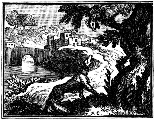 Illustration de François Chauveau pour les Fables choisies mises en vers par M. de LaFontaine, Claude Barbin et Denys Thierry, 1668-Français-6e