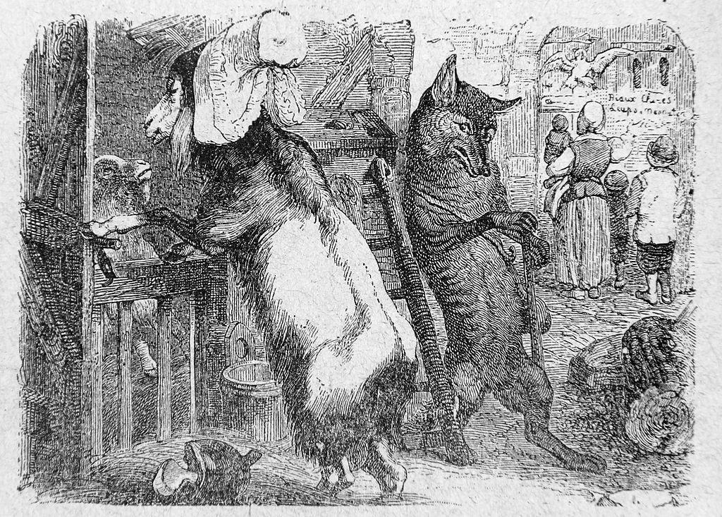 Jean-Jacques Grandville, illustrations des Fables de LaFontaine, 1838-1840-Français-6e