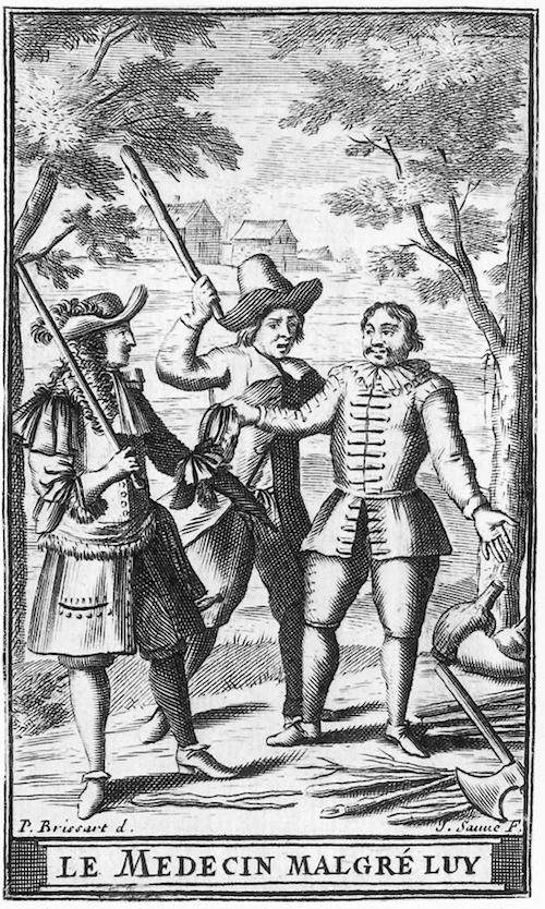 Pierre Brissart, illustration pour l'édition de 1682 du Médecin malgré lui de Molière-Français-6e