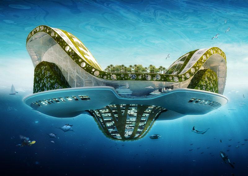 Un projet de ville futuriste: le Lilypad ©Vincent Callebaut