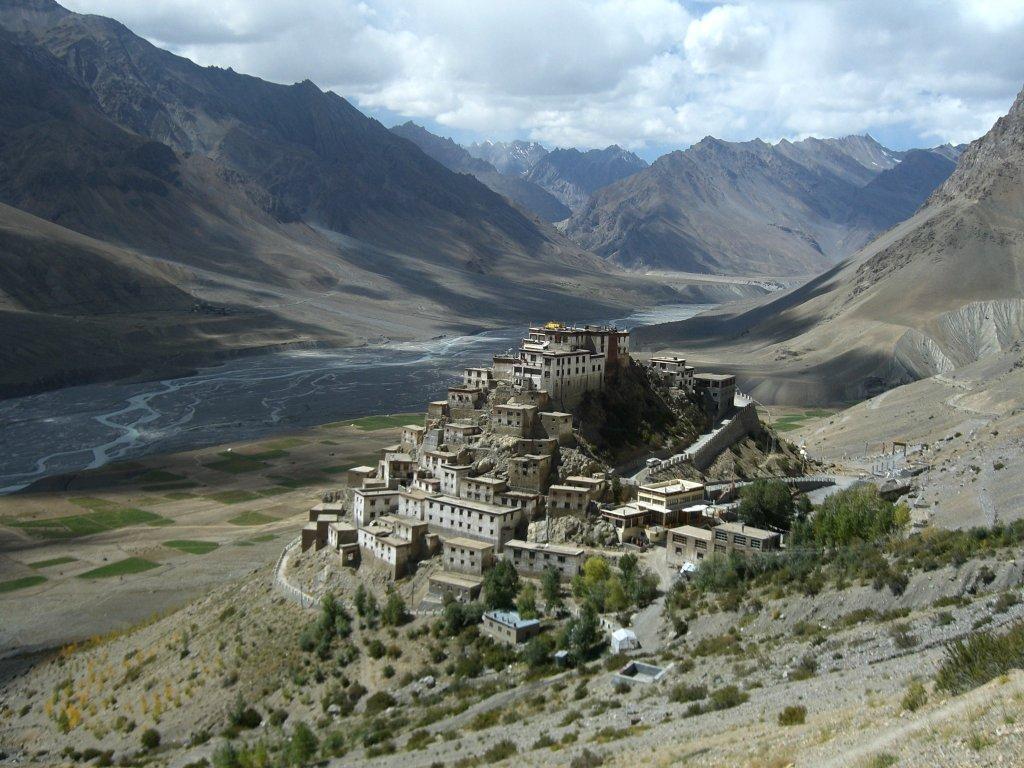 Le monastère de Key, dans l'Himalaya, est situé à 4116 m. ©4ocima – 16novembre 2006