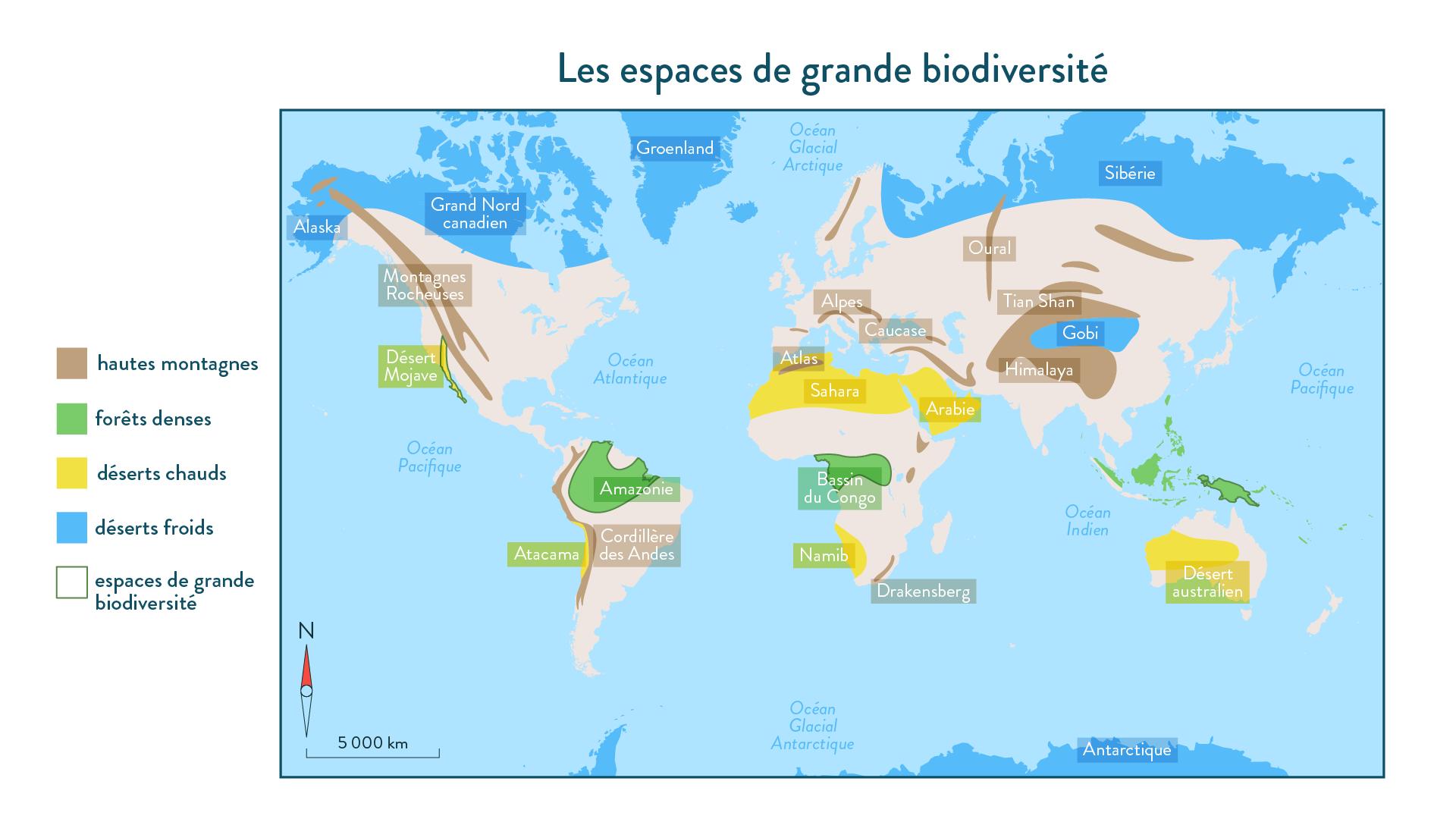 6e-géographie-SchoolMouv - Les espaces de grande biodiversité