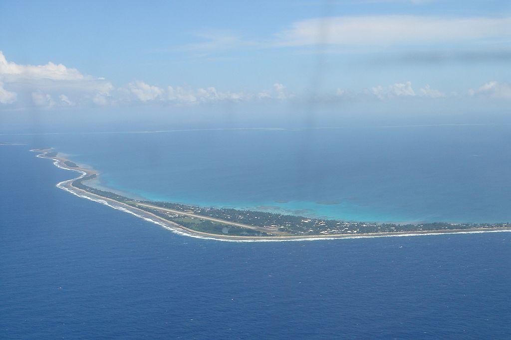 L'archipel des Tuvalu, menacé par la montée des eaux. ©Gabriella Jacobi