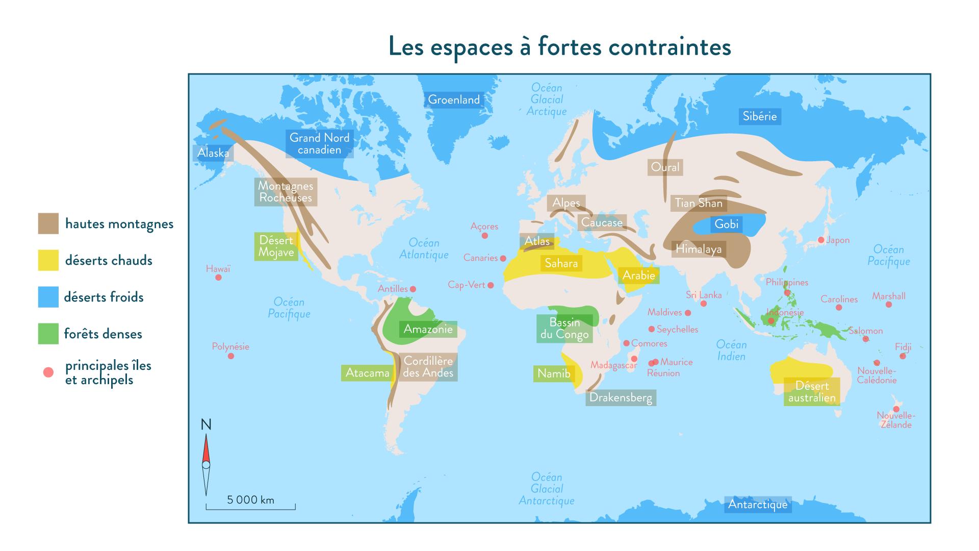 6e-géographie-SchoolMouv- Les espaces à fortes contraintes