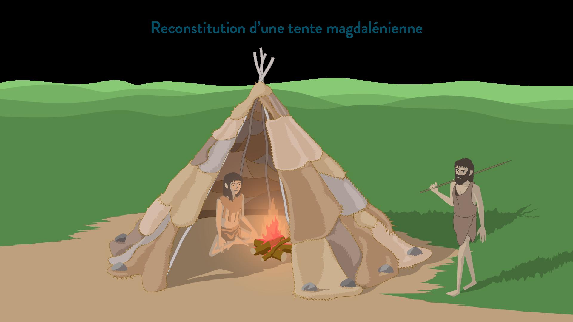 Reconstitution d'une tente magdalénienne-6e-Histoire