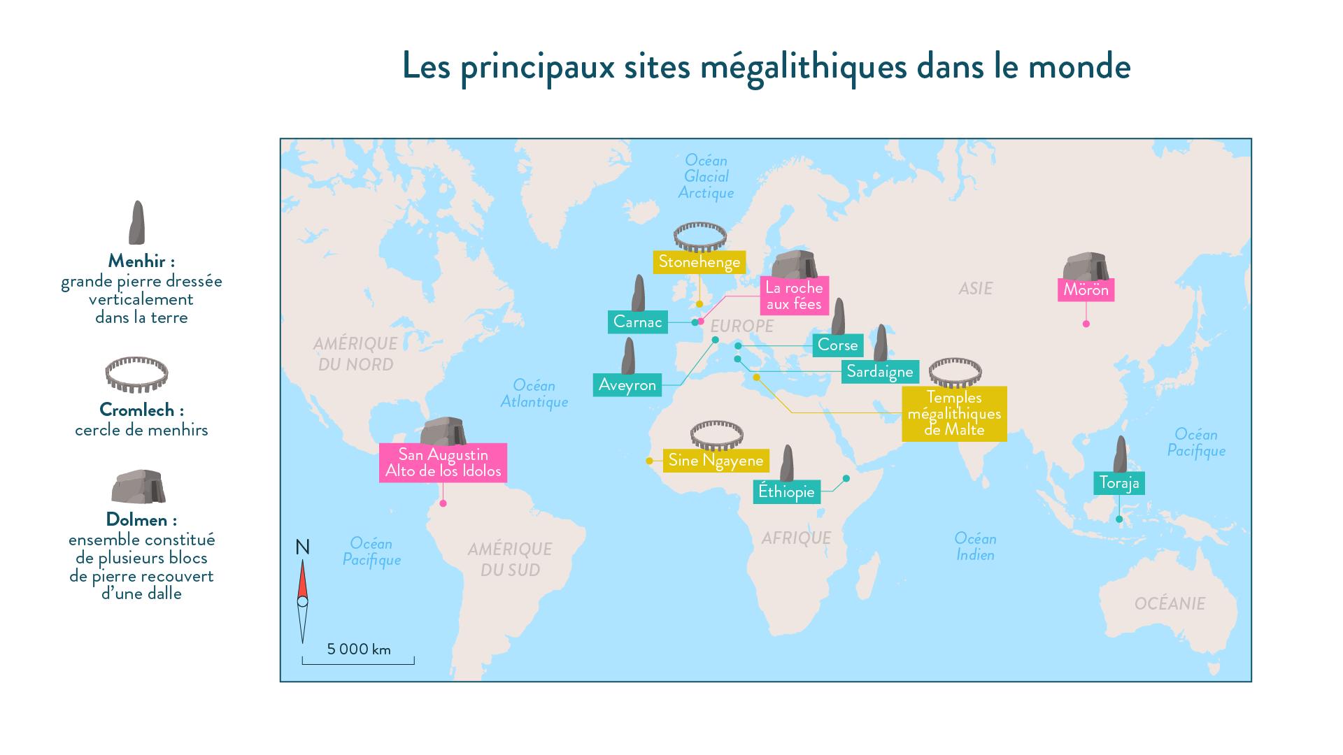 Les principaux sites mégalitihiques dans le monde-6e-Histoire
