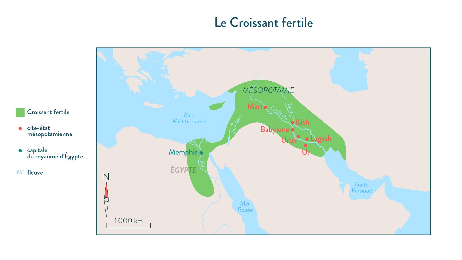Le Croissant fertile-6e-Histoire