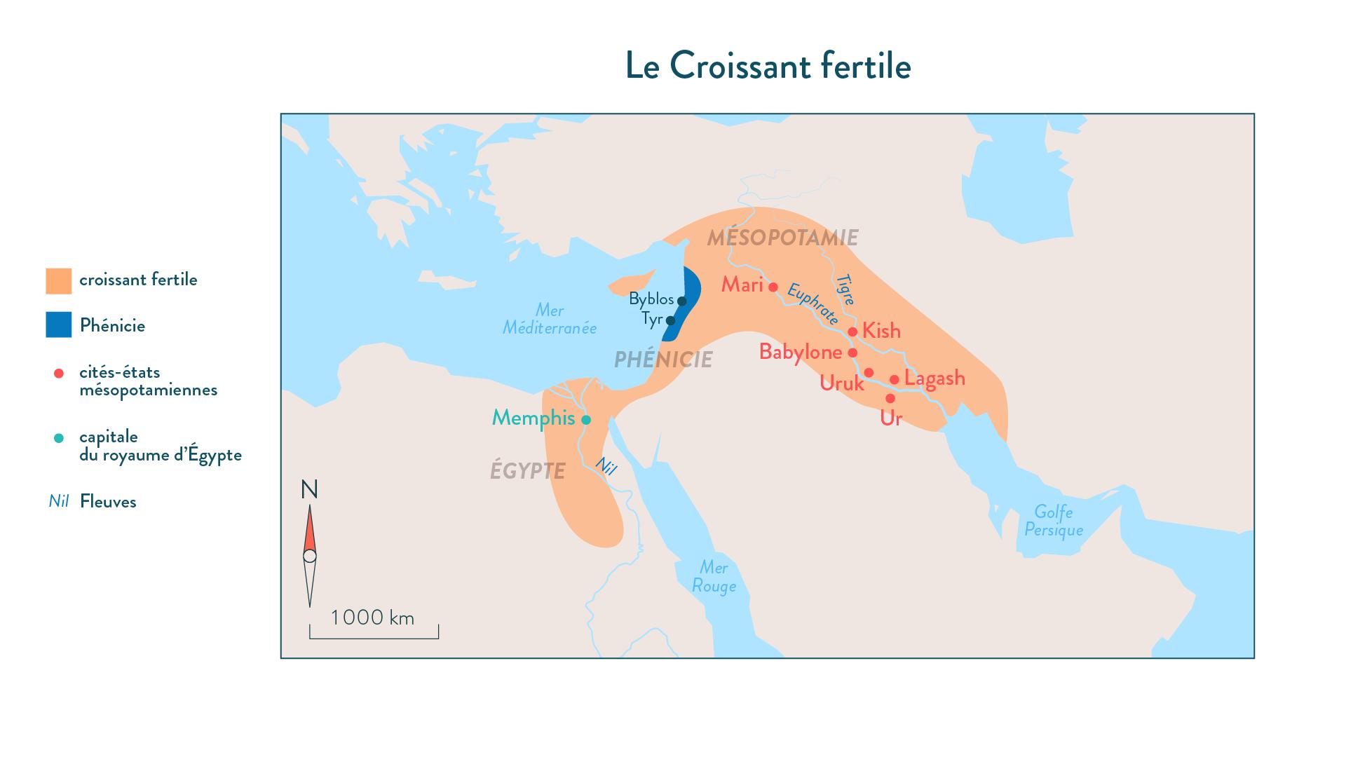Croissant fertile-histoire-6e