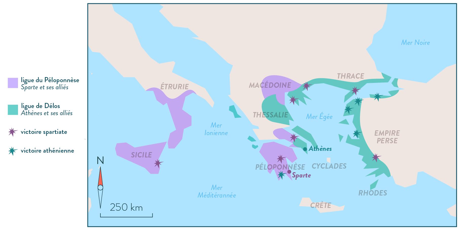 Histoire-6e-La guerre du Péloponnèse