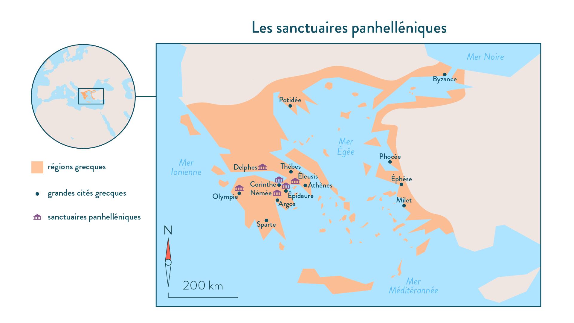 Histoire-6e-Les sanctuaires panhélléniques