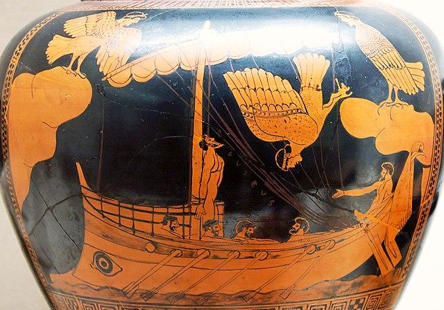 6e-histoire-Ulysse attaché au mât de son navire, vase athénien-6e-histoire