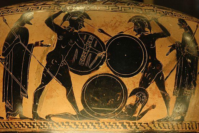 6e-histoire-Des hoplites au combat