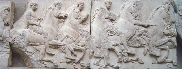 6e-histoire-Des cavaliers au début du défilé des Grandes Panathénées