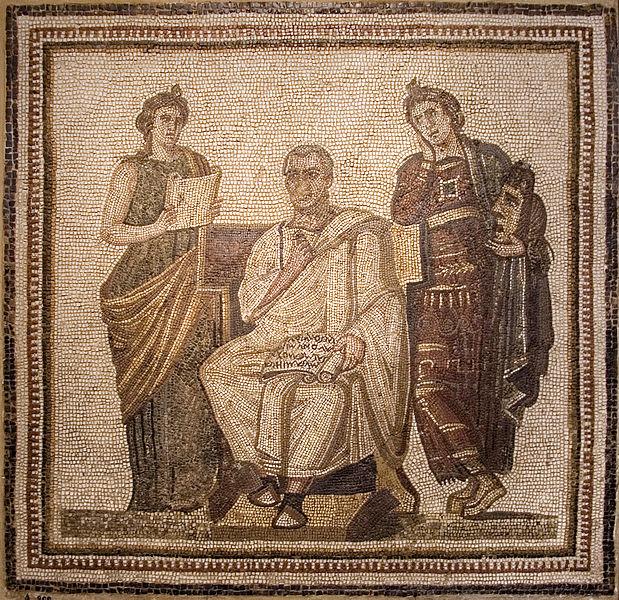 Virgile écrivant l'Énéide, musée du Bardo - histoire - 6e
