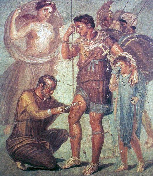 Énée soigné par un médecin, musée de Naples-histoire-6e