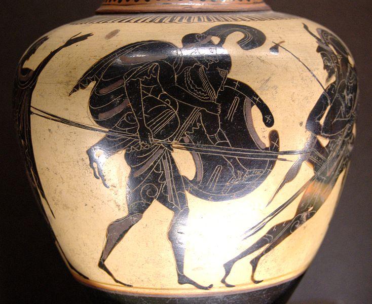 Énée fuyant Troie avec Anchise, musée du Louvre - histoire - 6e