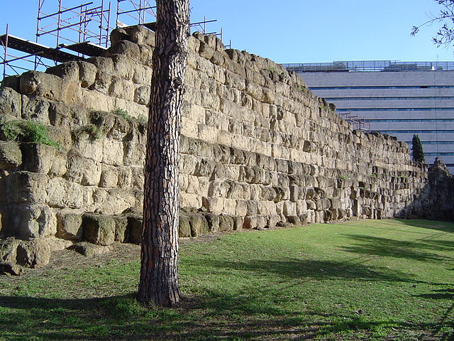 Vestige de la muraille servienne-histoire-6e