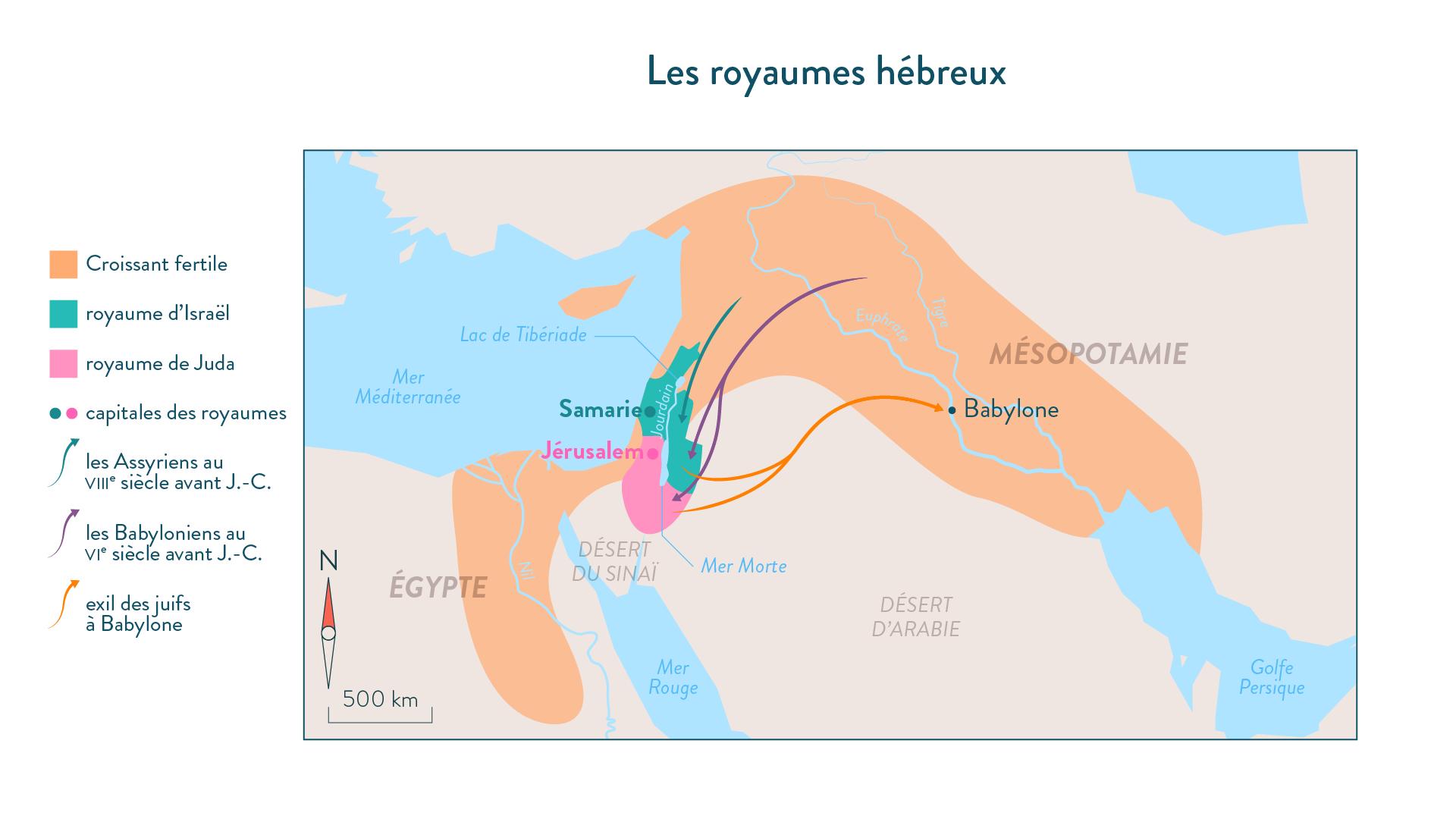 Les royaumes hébreux au VIIIe et VIe siècle avant J.-C.-histoire-6e