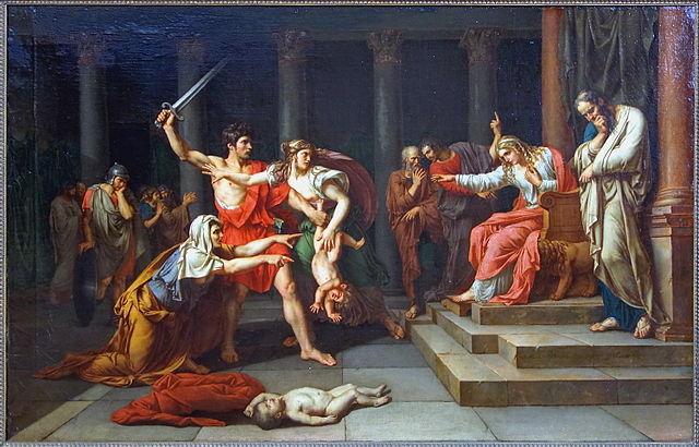 Le jugement de Salomon. Tableau de Jean-Baptiste Wicar, 1785. Palais des Beaux-Arts de Lille-6e-hist