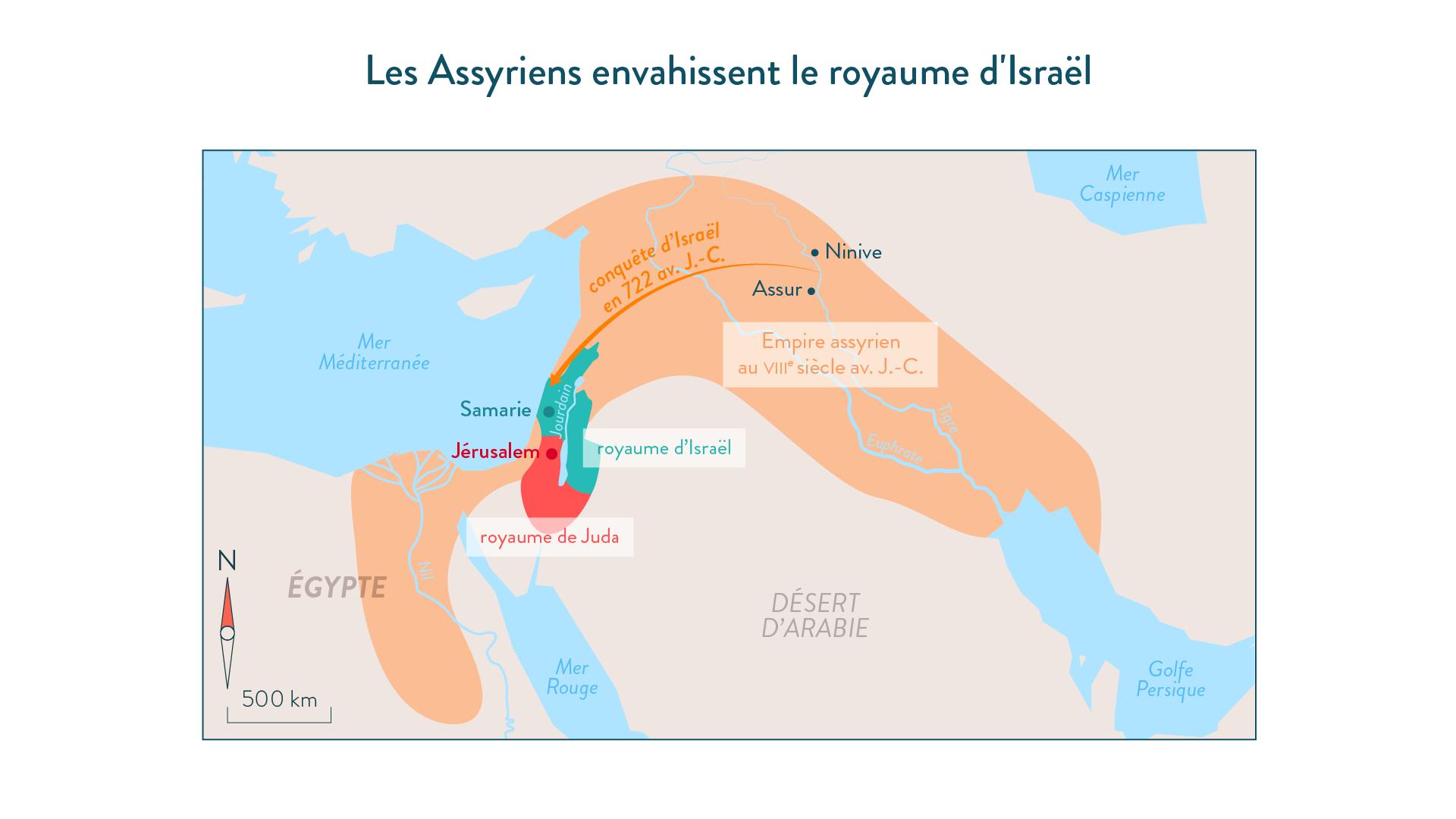 Les Assyriens envahissent le royaume d'Israel (en 722 avant J.-C.)-histoire-6e