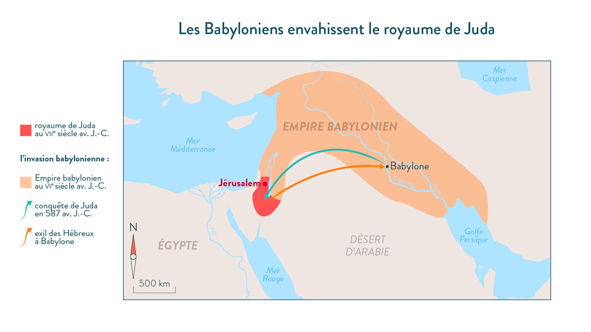 Les Babyloniens envahissent le royaume de Juda (en 587 avant J.-C.)-histoire-6e