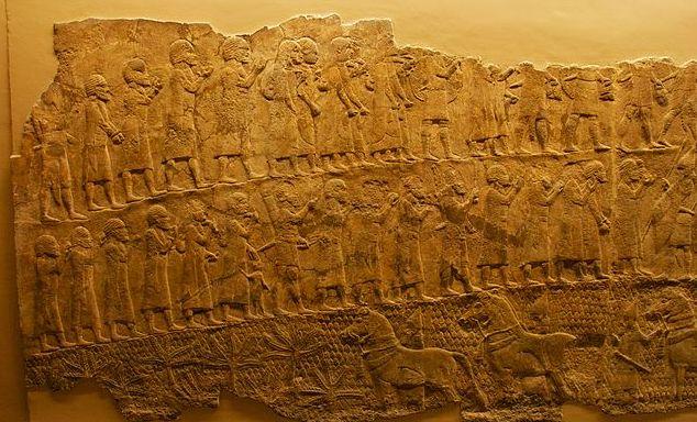 'exil des Hébreux, après la prise de Lakish par les Assyriens
