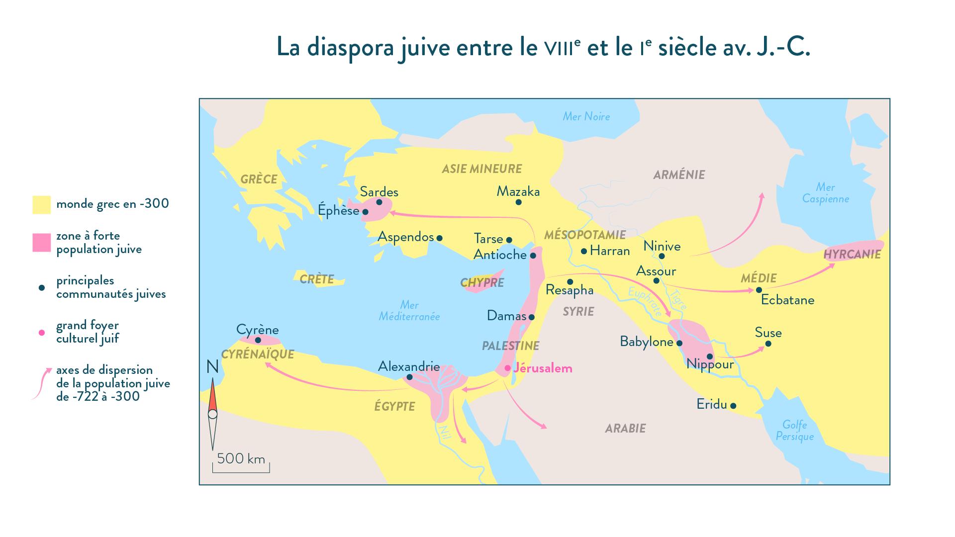La diaspora juive entre le VIIIe et le Ie siècle av. J.-C.-histoire-6e