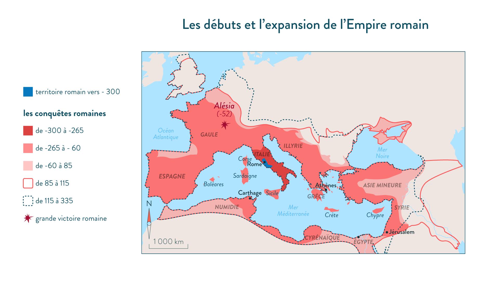 Les début et l'expansion de l'Empire romain-Histoire-6e