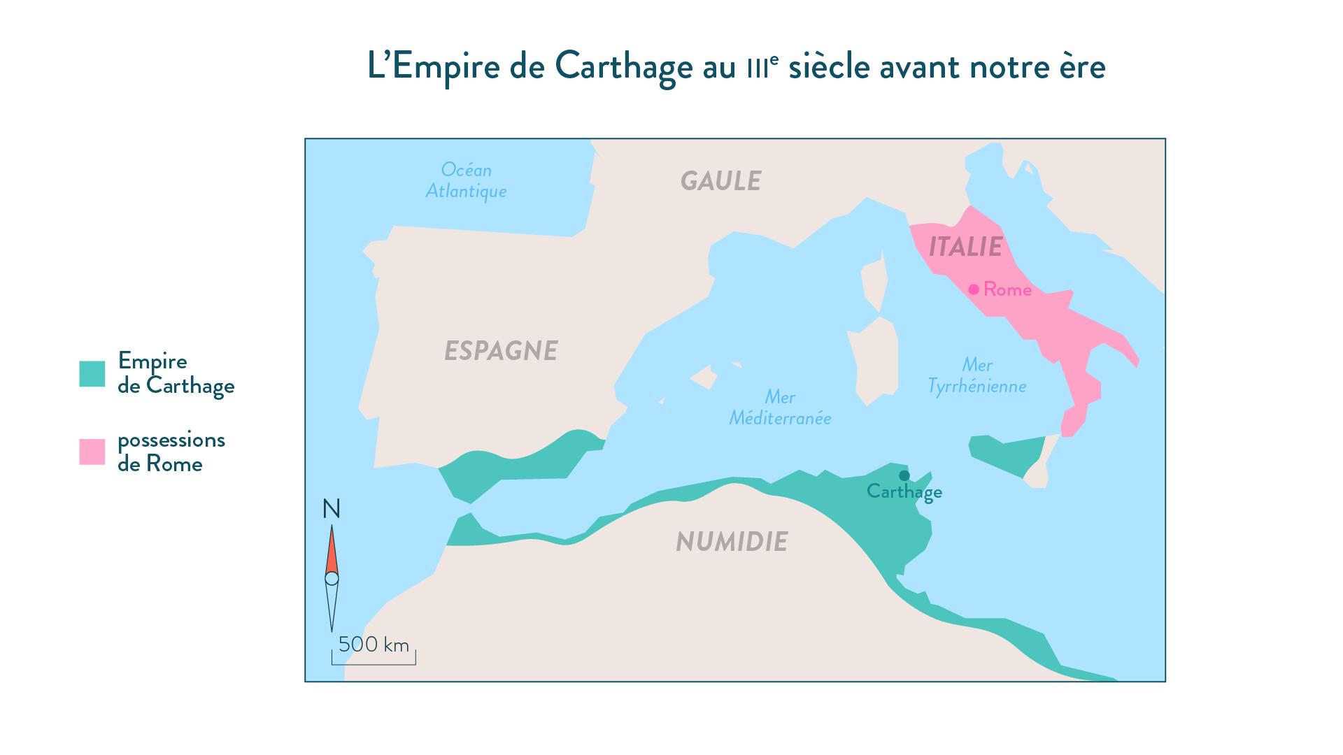L'Empire de Carthage au III<sup>e</sup>siècle avant notre ère-histoire-6e
