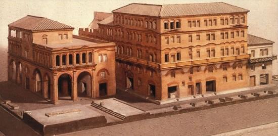 Reproduction d'un immeuble romain (insulae) au début de notre ère ©Bjankuloski06-histoire-6e