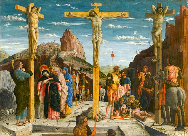La crucifixion, peinture d'Andrea Mantegna, 1457-1460, Le Louvre, Paris ©The York Project
