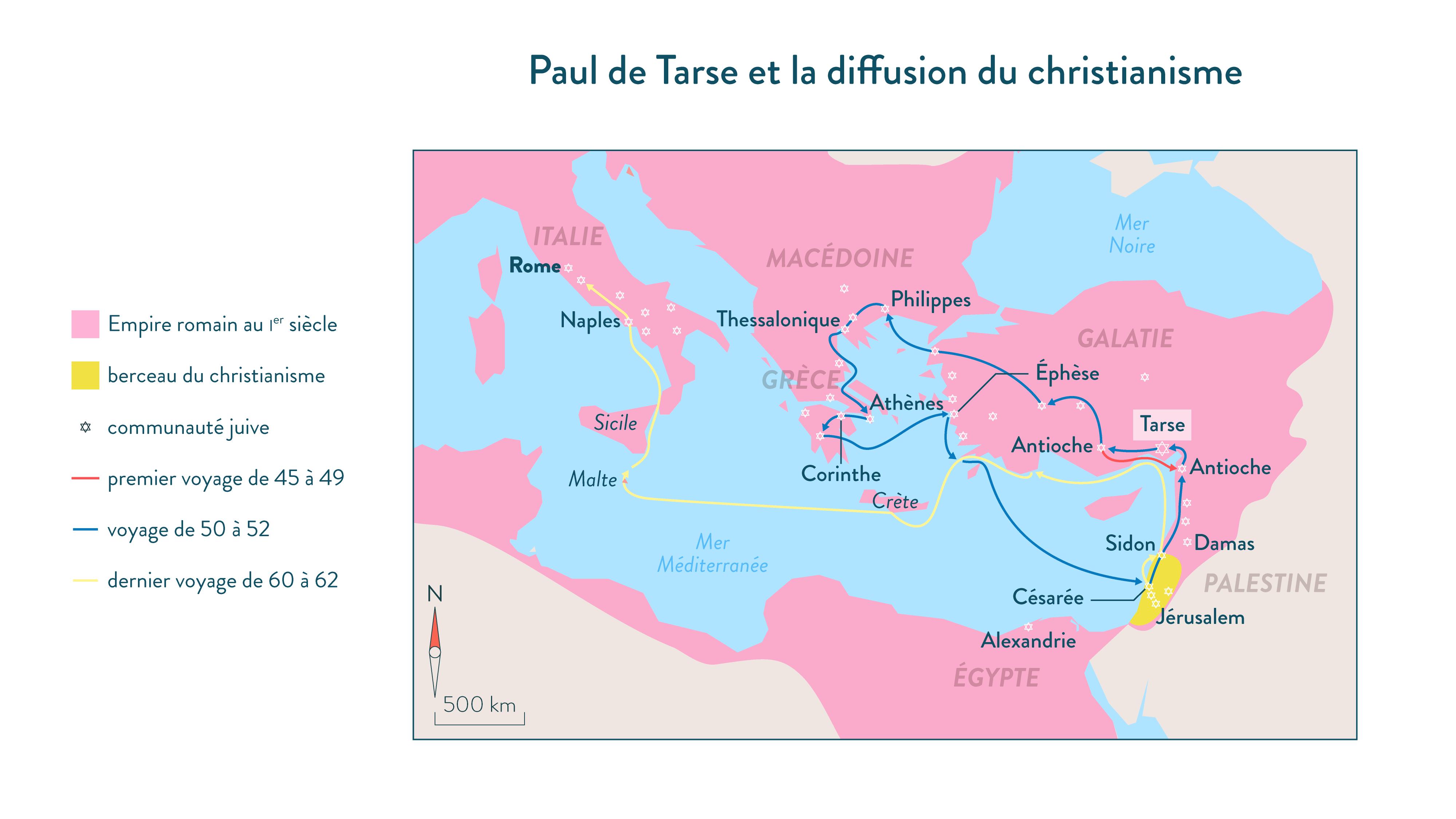 Paul de Tarse et la diffusion du christianisme-Histoire-6e