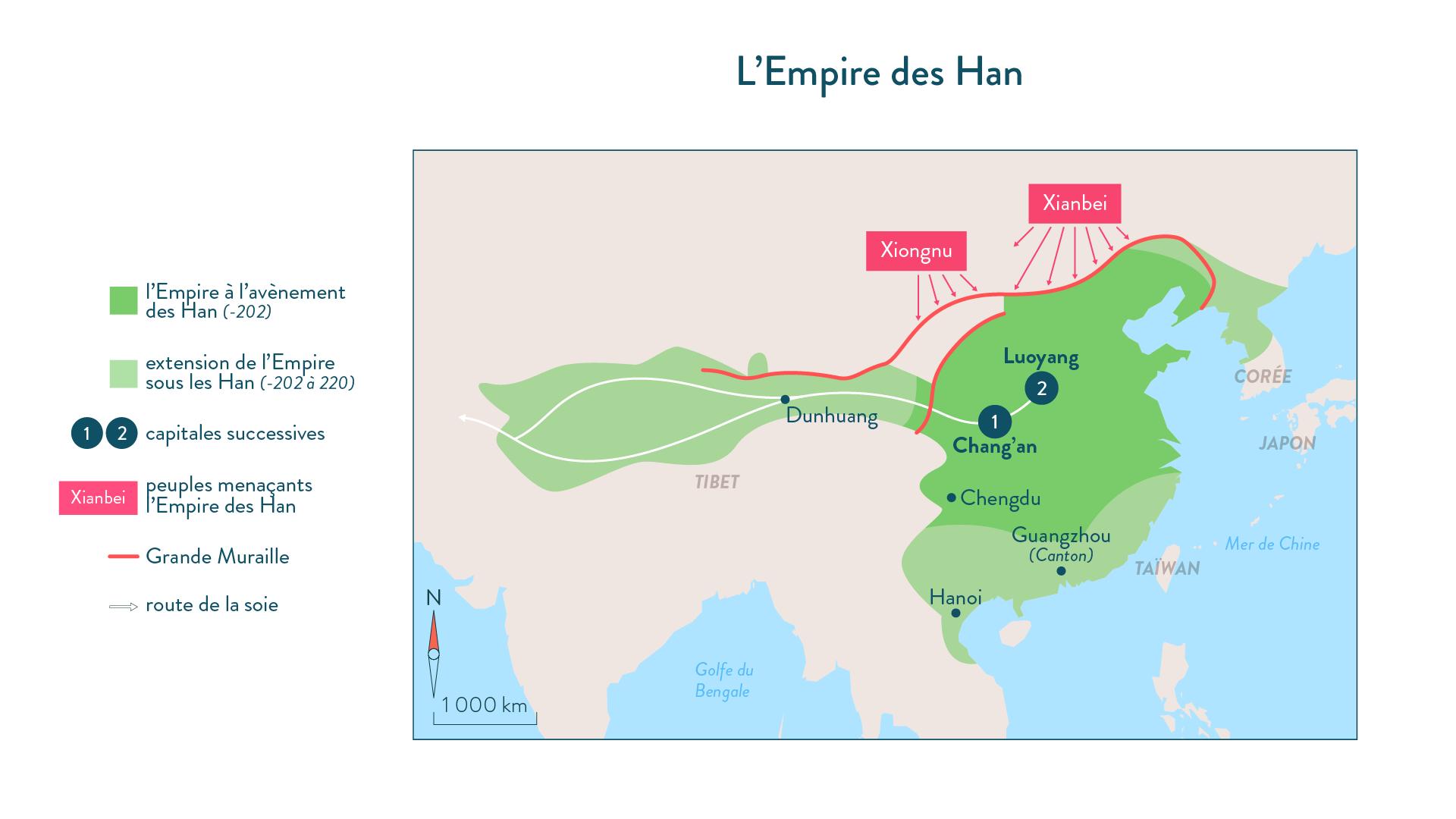 L'empire des Han-histoire-6e