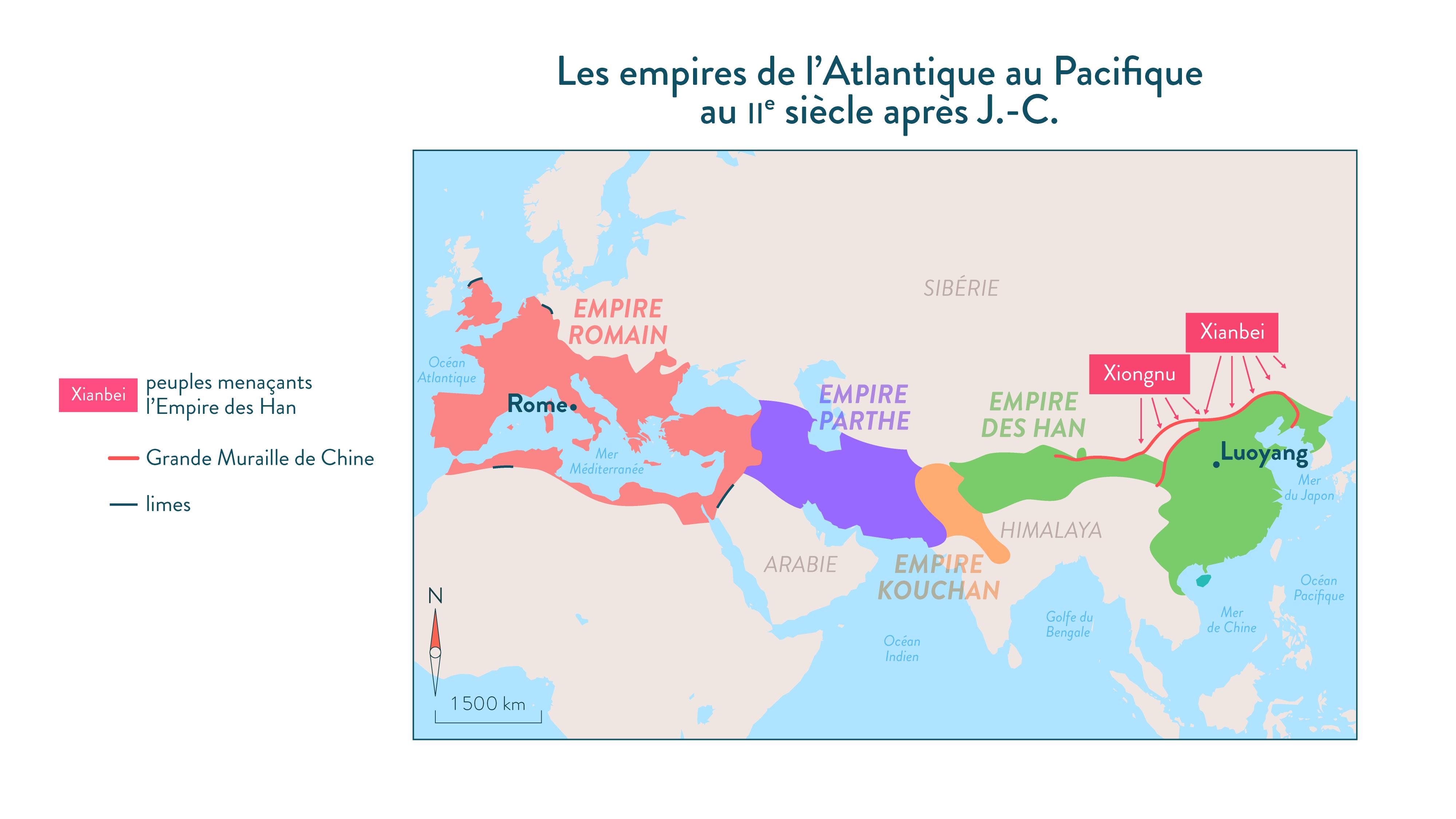 Les empires de l'Atlantique au Pacifique au IIe siècle après J.-C.-Histoire-6e