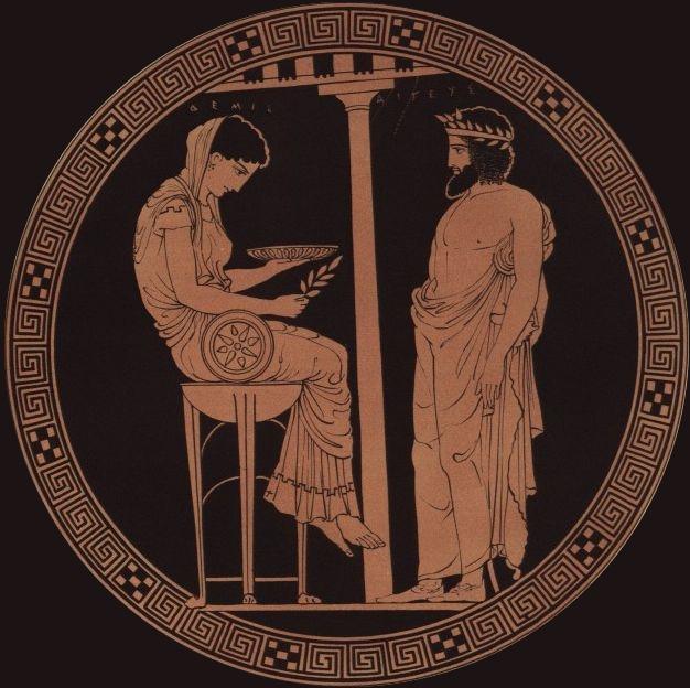 6e-histoire-La Pythie dans le temple d'Apollon