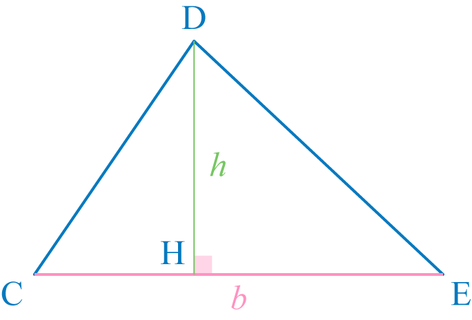 aire d'un triangle mathématiques sixième