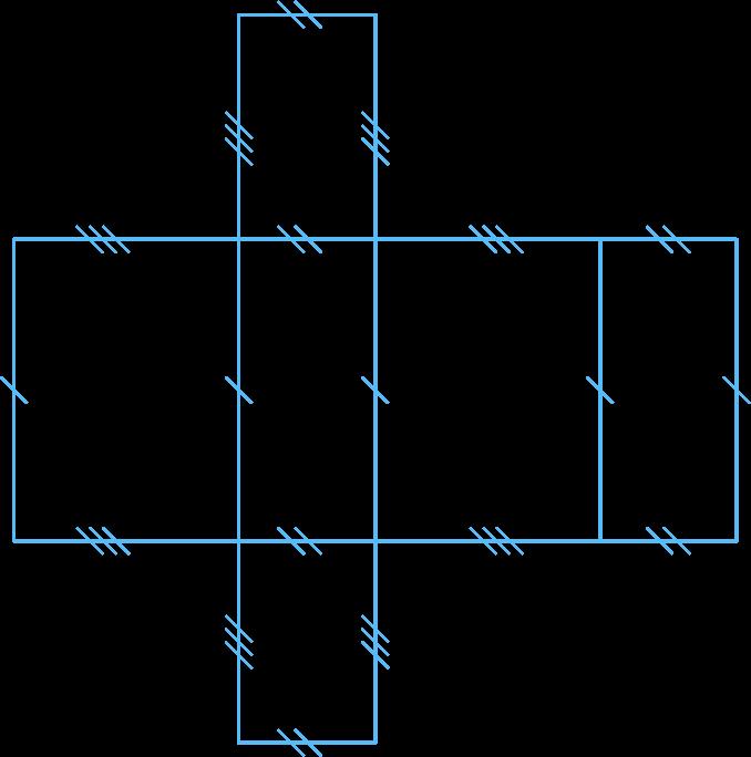 Patron d'un parallélépipède rectangle