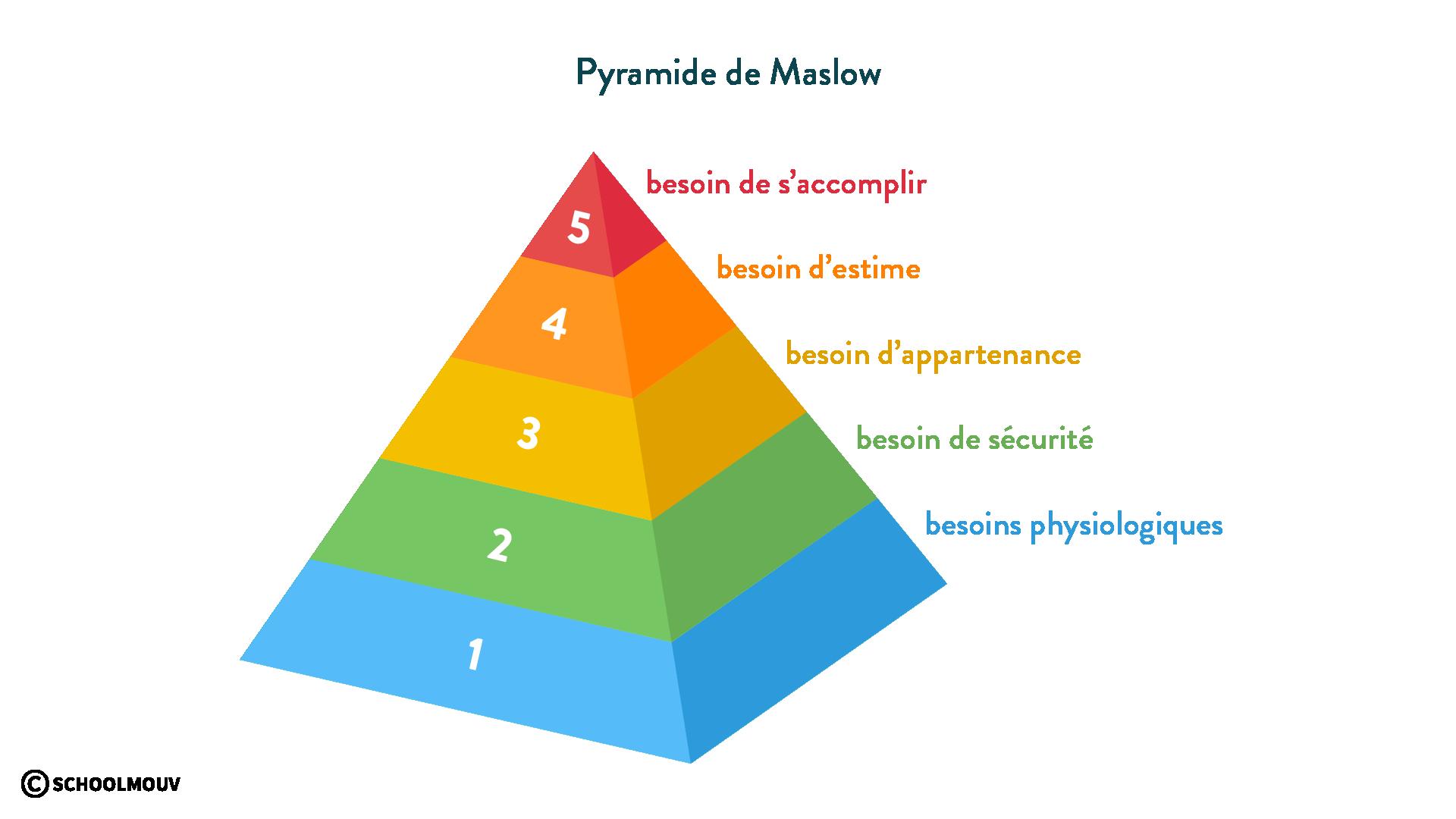 Humanité EMC Pyramide de Maslow